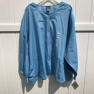 Scrubs Cherokee Workwear Jacket 5XL Baby Blue